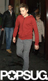 Brooklyn Beckham wore a red hoodie out to dinner in London on Friday night.