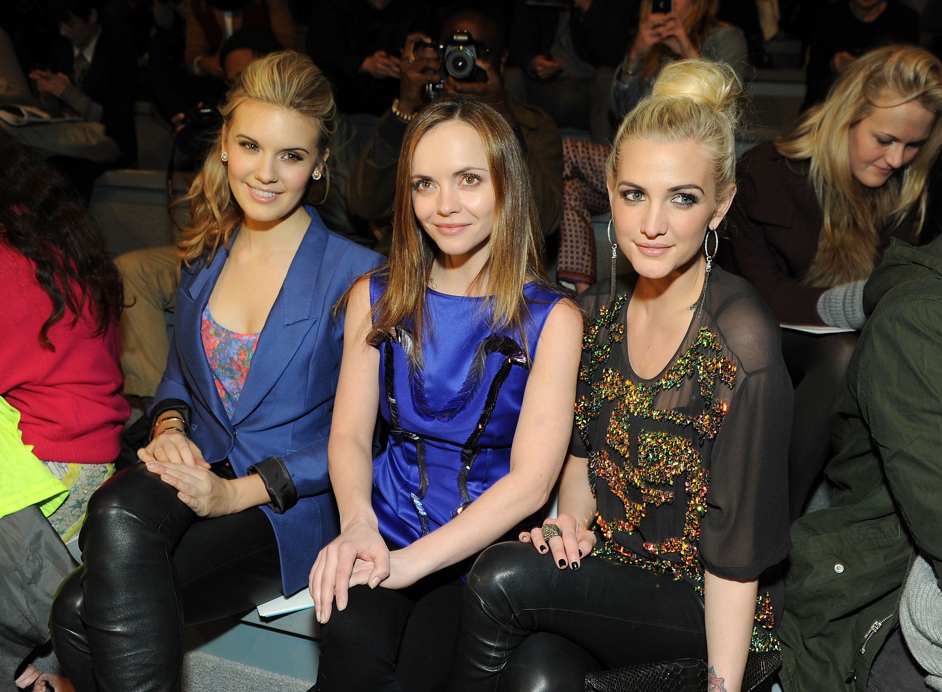 Maggie Grace, Christina Ricci, and Ashlee Simpson shared front-row status at Richard Chai Love on Thursday.