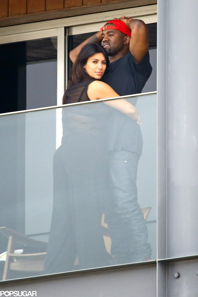 Kim Kardashian embraced Kanye West in Rio.