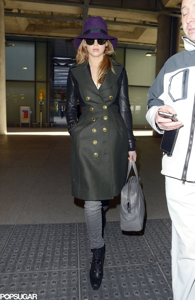 Jennifer Lawrence Lands in London to Prep For the BAFTAs