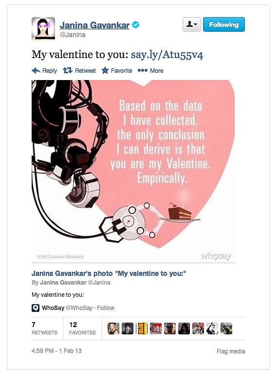 True Blood actress and gaming geek Janina Gavankar uses the scientific method to choose her valentine.
