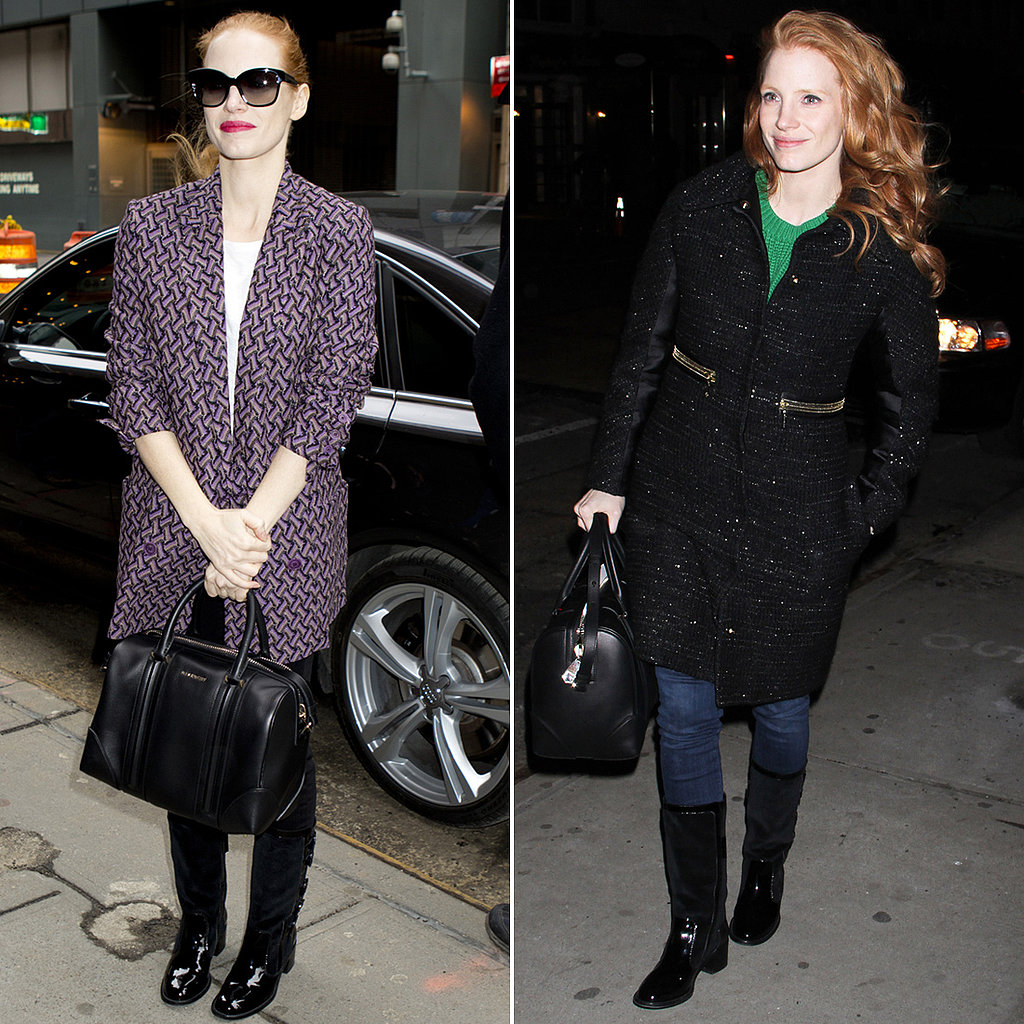 Jessica Chastain Might Just Have the Best Winter-Coat Wardrobe (Ever)