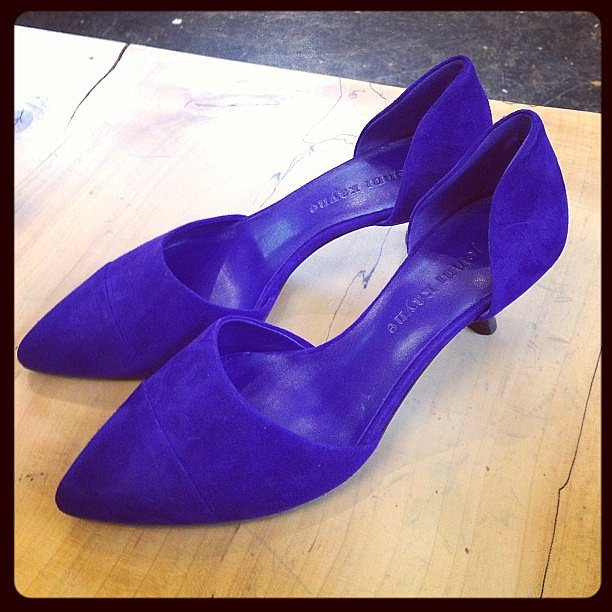 Blue suede shoes — a closet staple, courtesy of Jenni Kayne.