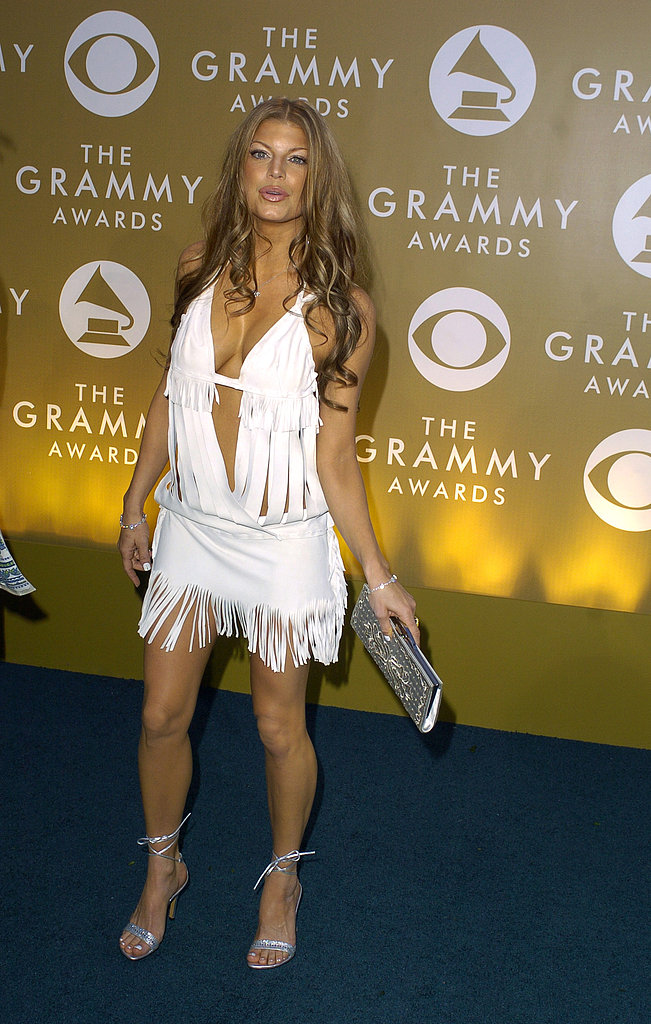 Fergie was barely covered with fringe at the 2004 show.