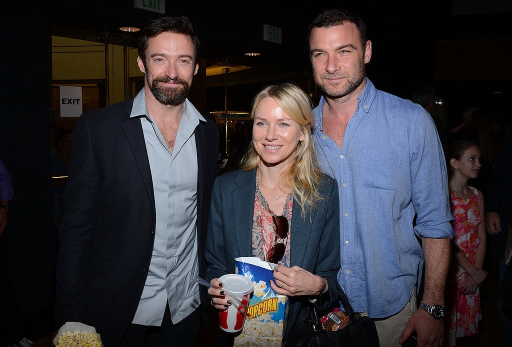 Hugh Jackman, Naomi Watts and Liev Schrieber joined up in LA on February 2 for the premiere of Escape From Planet Earth.