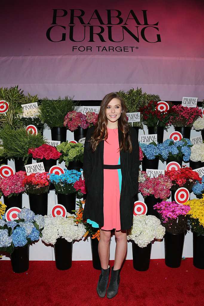 Elizabeth Olsen was pretty as a picture at the Prabal Gurung for Target event on February 6 in New York City.