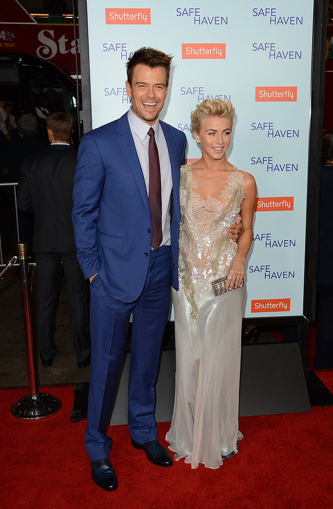 Julianne Hough and Josh Duhamel made a pretty pair of co-stars at the premiere of their new Nicholas Sparks film, Safe Haven, on February 5.