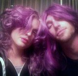 Matching! Kelly Osbourne gave her boyfriend Matthew a decidedly feminine makeover. Source: Twitter user MissKellyO