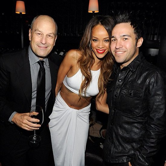 Pete Wentz met up with Rihanna and music executive Barry Weiss at a Grammys afterparty. Source: Instagram user petewentz