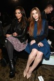 Shay Mitchell and Holland Roland sat front row at the DKNY show on Sunday.