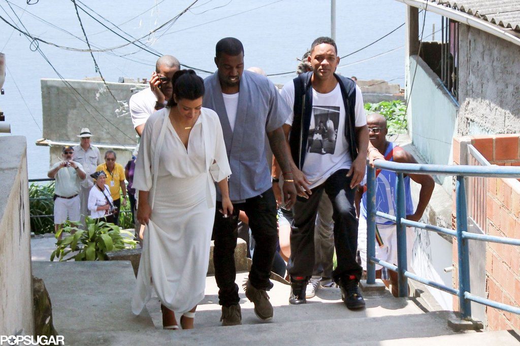 Kanye Skips the Grammys to Sightsee With Kim and Will Smith