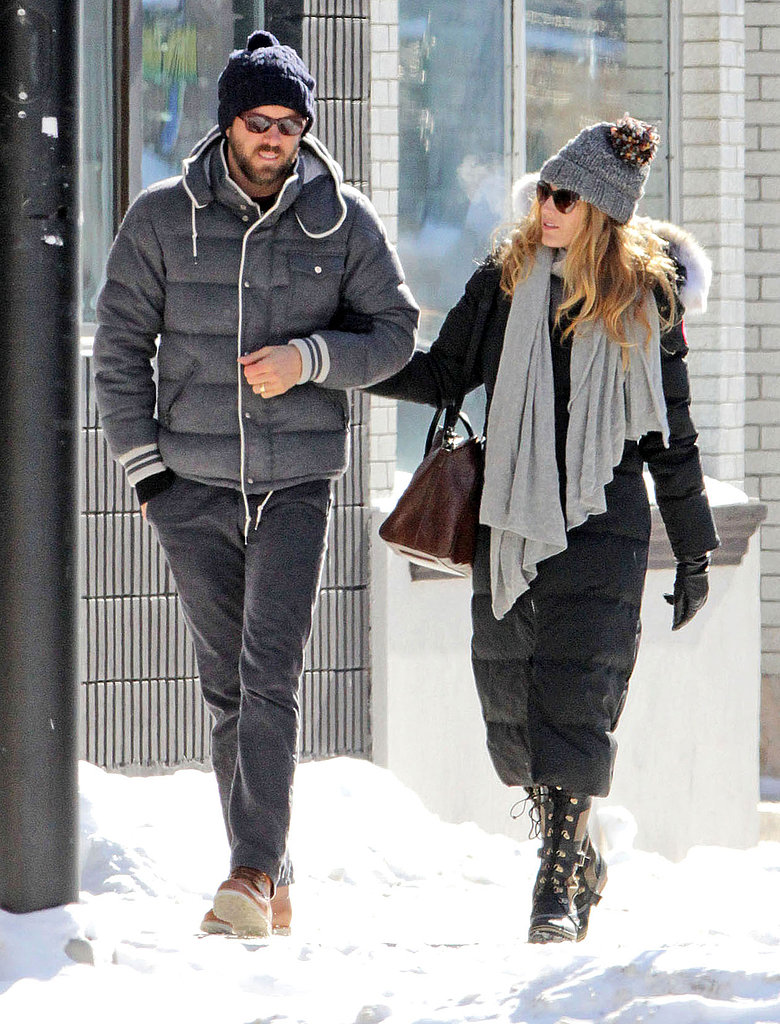 Blake Lively and Ryan Reynolds walked together in Canada.