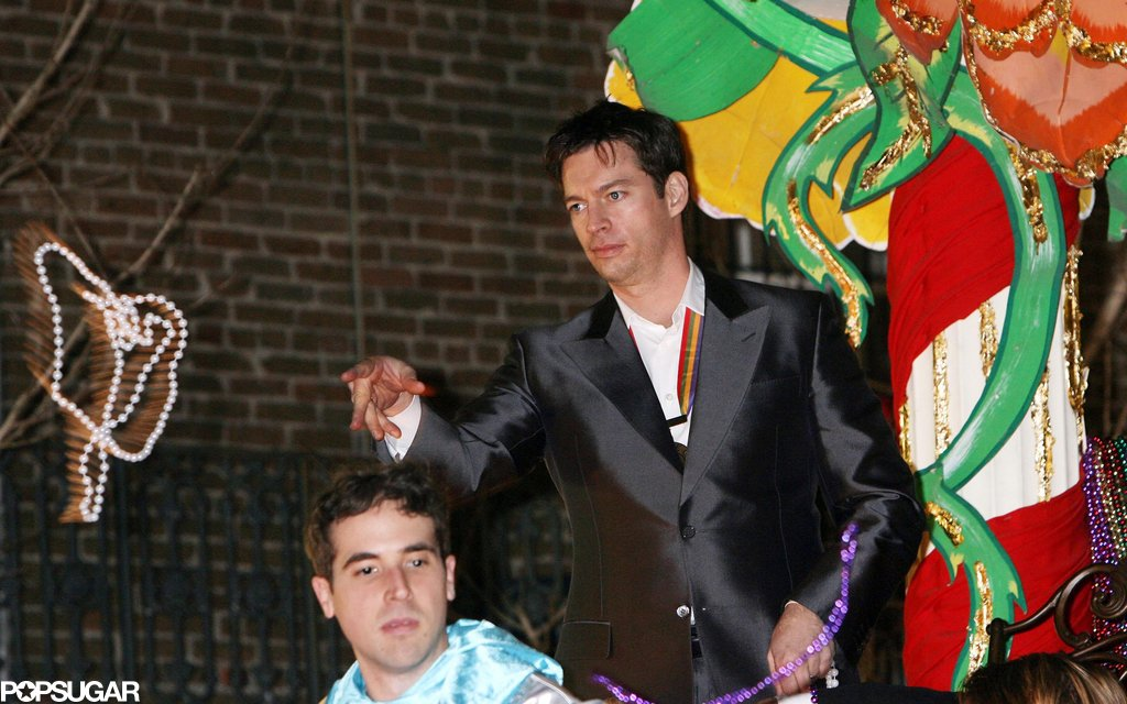 In 2007, Harry Connick Jr. tossed beads to crowds of people lining the streets of New Orleans at a parade during the annual Mardi Gras celebration.