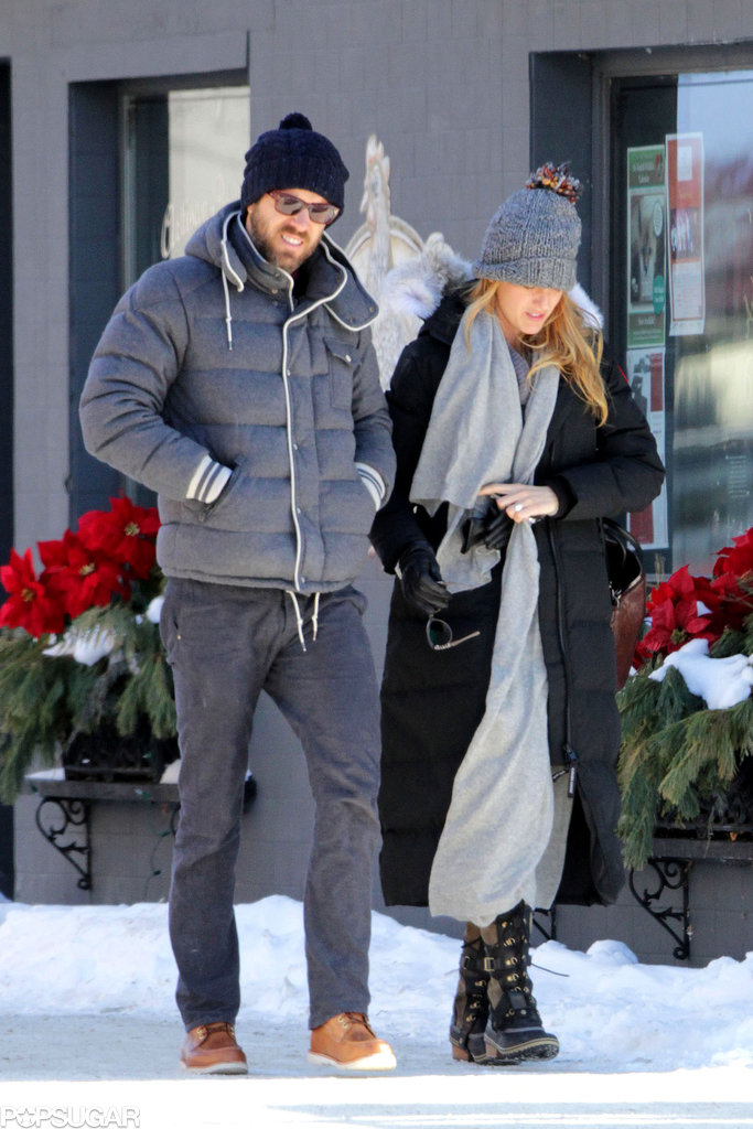 Blake Lively and Ryan Reynolds ventured outside on Saturday.