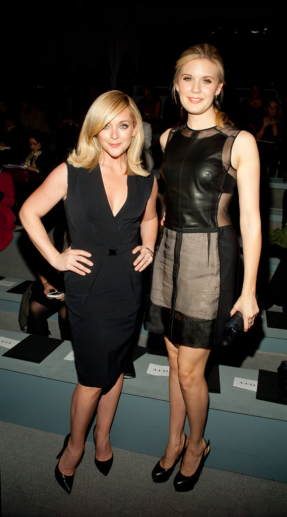 At the Kaufman Franco show, Jane Krakowski and Maggie Grace put their own signature spins on the classic black dress.