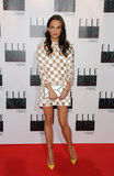 Anna Karenina actress Alicia Vikander also showed off her mod side in a checkered Louis Vuitton minidress, which she paired with a silver metallic clutch and yellow pumps.