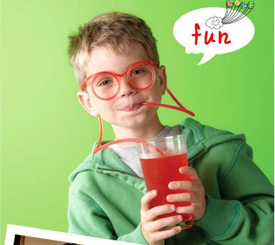 This straw in the shape of eyeglasses ($5) turns seeing and sipping into a game of dress up.