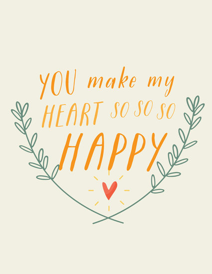 Leave a sweet love note on the wall with this happy heart print ($16).
