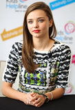 Miranda Kerr spoke with the media in Sydney.