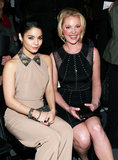 Vanessa Hudgens and Katherine Heigl smiled at the Jenny Packham presentation during Fashion Week in NYC in February.