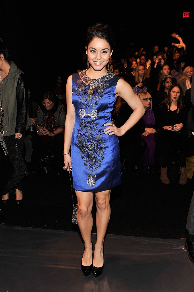 Vanessa Hudgens posed at the Naeem Khan runway show on Tuesday in NYC.