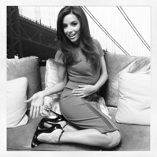 Brian Atwood showed off a pair of his shoes on Eva Longoria.  Source: Instagram user brian_atwood
