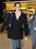 Jennifer Garner wore her glasses at the London airport.