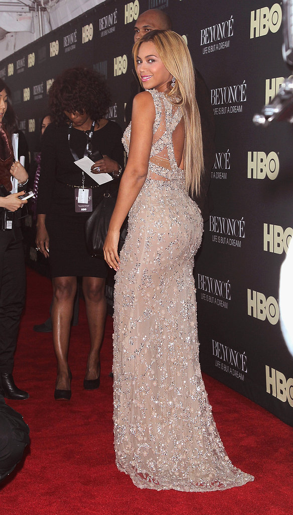 The back view of Beyoncé's Elie Saab gown was just as mesmerizing.