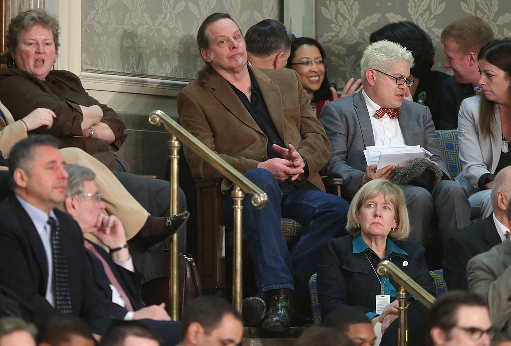 Musician and gun-rights advocate Ted Nugent attended the State of the Union as a guest of Republican Rep. Steve Stockman of Texas.