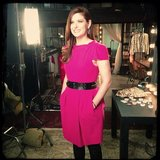 Debra Messing shot some promos for Smash. Source: Instagram user debramessing