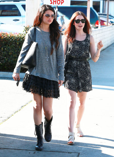 Selena Gomez and Lily Collins stopped for lunch in Studio City.