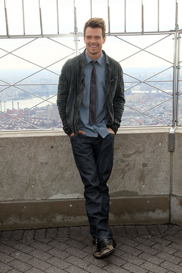 Josh Duhamel stopped by the Empire State Building.