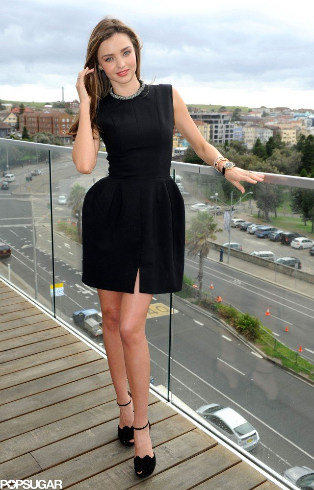 Miranda Kerr wore an LBD in Bondi Beach, Australia.