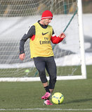David Beckham practiced with his new soccer team, Paris Saint-Germain, on Wednesday in Paris.