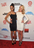 Anne V. posed with Ariel Meredith on the red carpet.
