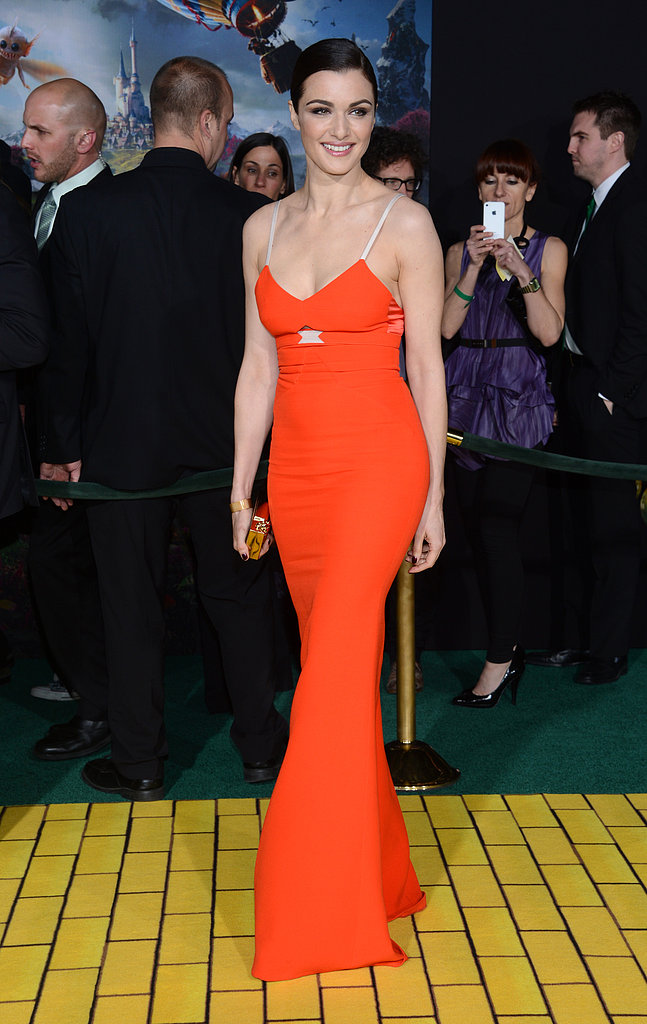 Rachel Weisz posed on the red carpet at the premiere of Oz the Great and Powerful.