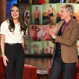 Mila Kunis Talks About Ashton Kutcher on Ellen | Video