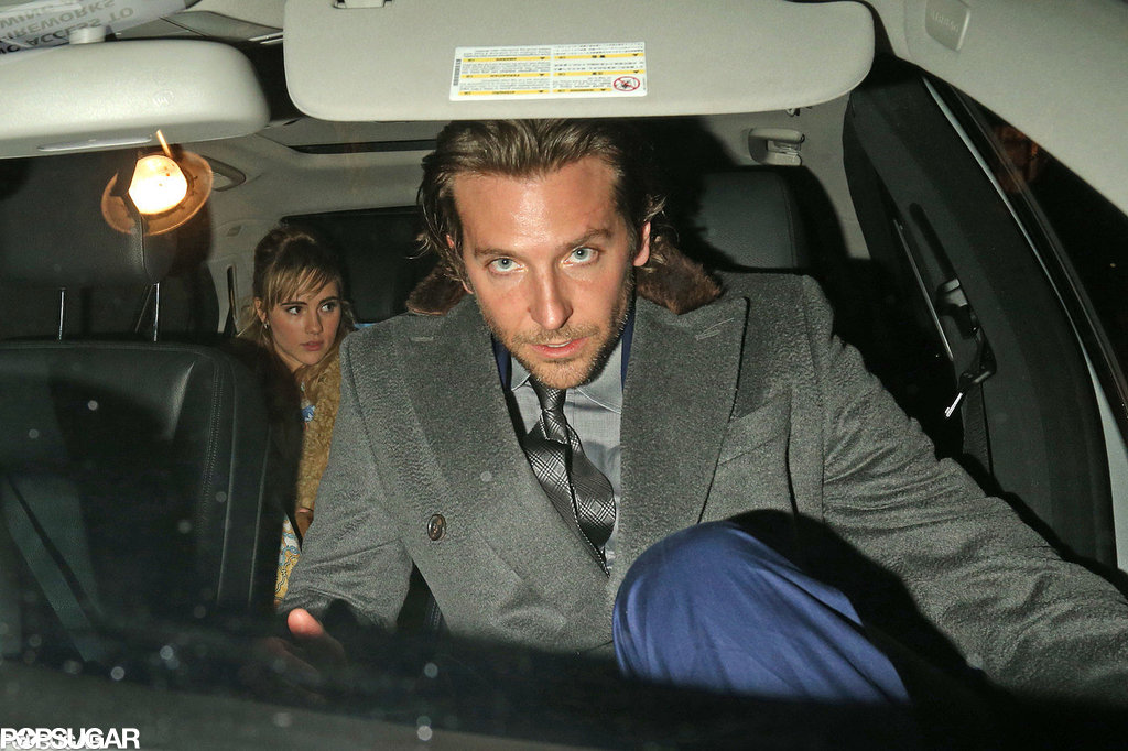 Bradley Cooper left the Elle Style Awards in London in February with British model Suki Waterhouse.