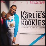 Karlie Kloss showed off her fashionably wholesome cookie line during the launch at Lincoln Center. Source: Instagram user karliekloss