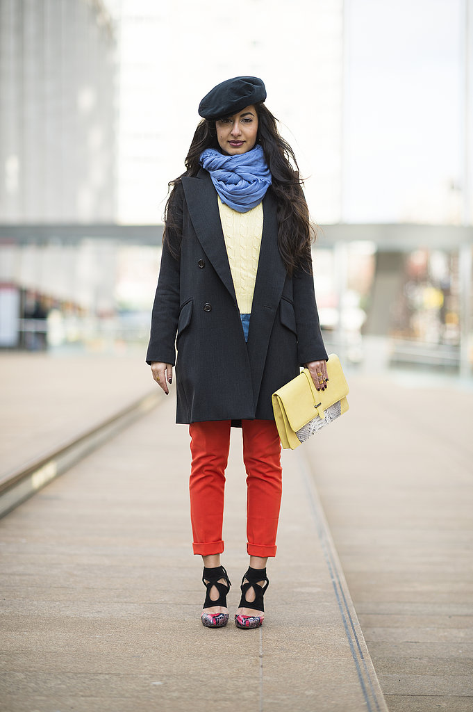 Bright pants and killer footwear took the spotlight outside Lincoln Center. Source: Le 21ème | Adam Katz Sinding