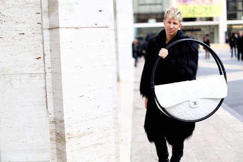 Kyle Anderson brought Chanel's hula-hoop bag from the runway to the street.