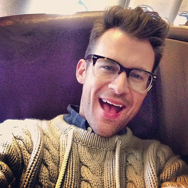 Brad Goreski jetted off to London to visit his boyfriend. Source: Twitter user mrbradgoreski