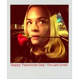 Jaime King got into the Valentine's Day spirit with a red rose. Source: Instagram user jaime_king