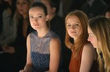Olivia Wilde and Jessica Chastain sat in the front row at the Calvin Klein show at New York Fashion Week in February.