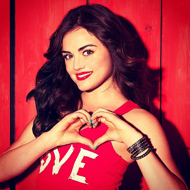 Lucy Hale was sending all her followers a viral kiss for Valentine's Day. Source: Instagram user lucyhale89