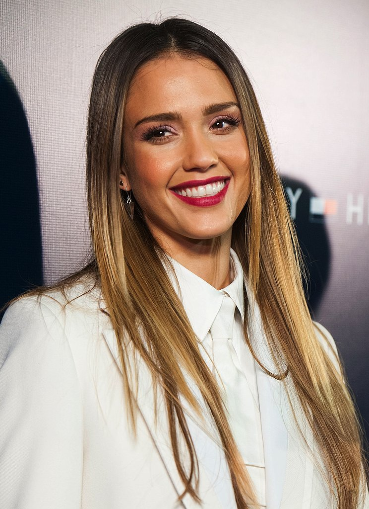 At the Tommy Hilfiger LA store opening, Jessica Alba accessorized her ears with these Melinda Maria silver pyramid drop earrings ($80).
