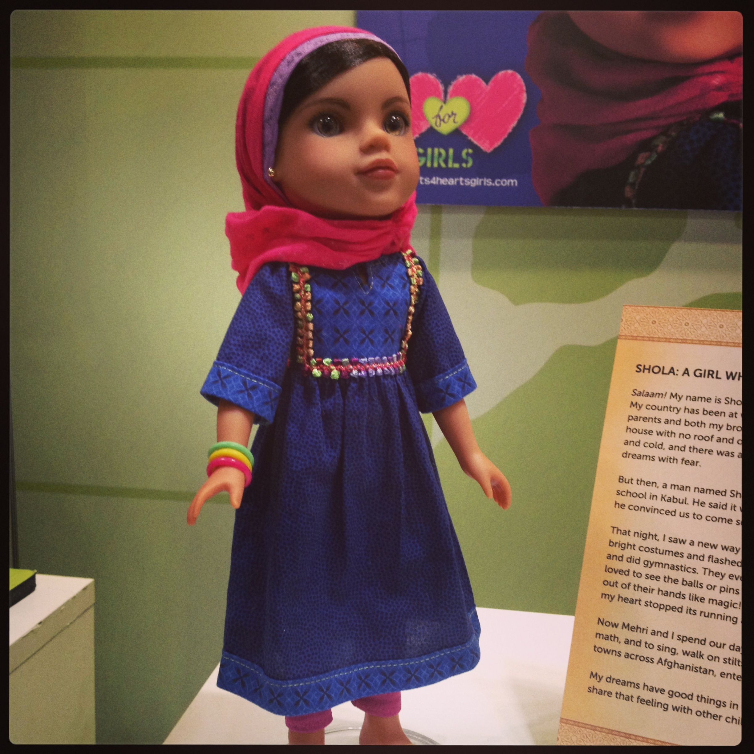 Heart For Heart dolls represent underserved countries around the world. The latest doll in the collection is Shola from Afghanistan.