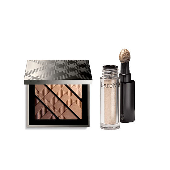 Burberry Complete Eye Palette in Mocha, $85 + Bare Minerals High Shine Eyecolour in Gold Medal, $21.95