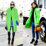 Acne Fall 2012 Neon Green Coat