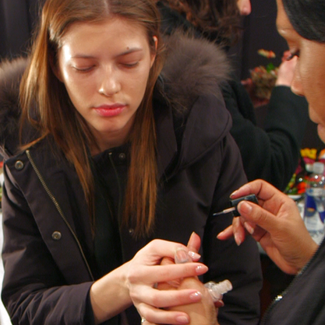 "Get the ""Fresh and Naughty"" Makeup Backstage at Rachel Zoe"